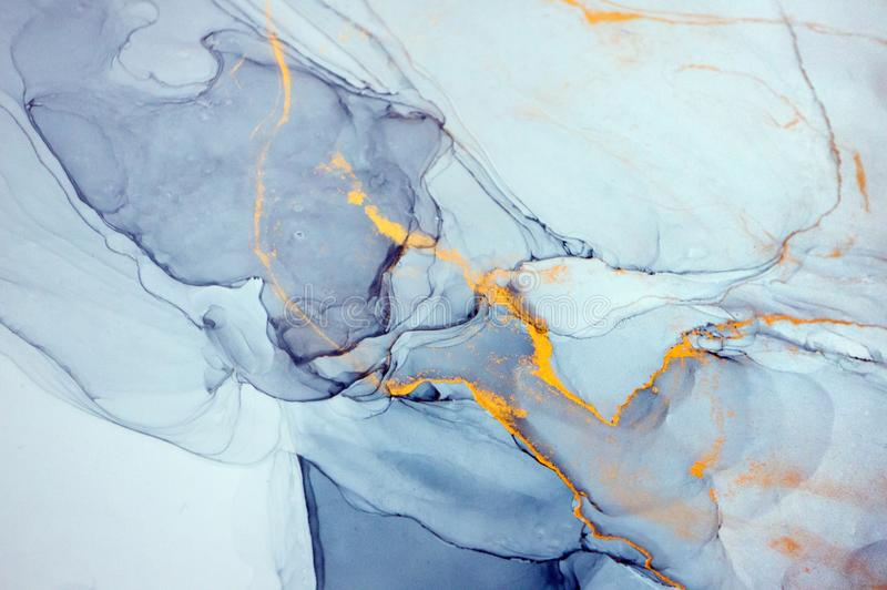 Alcohol ink, abstract painting. royalty free stock images