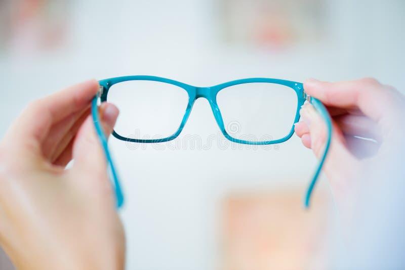 Closeup pair glasses stock photography