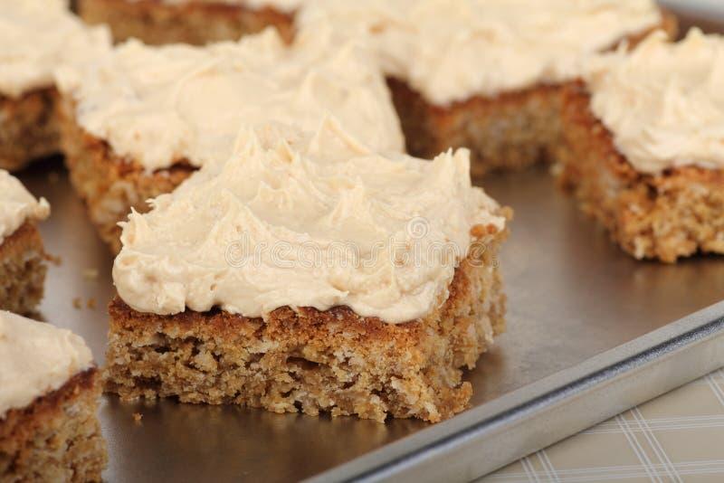 Closeup of Peanut Butter Bars stock photos