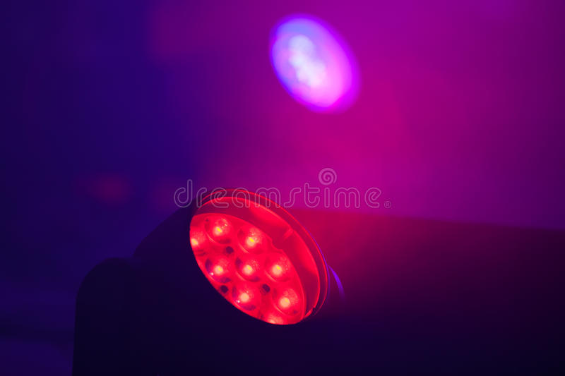 Closeup photo of bright LED spot light royalty free stock image