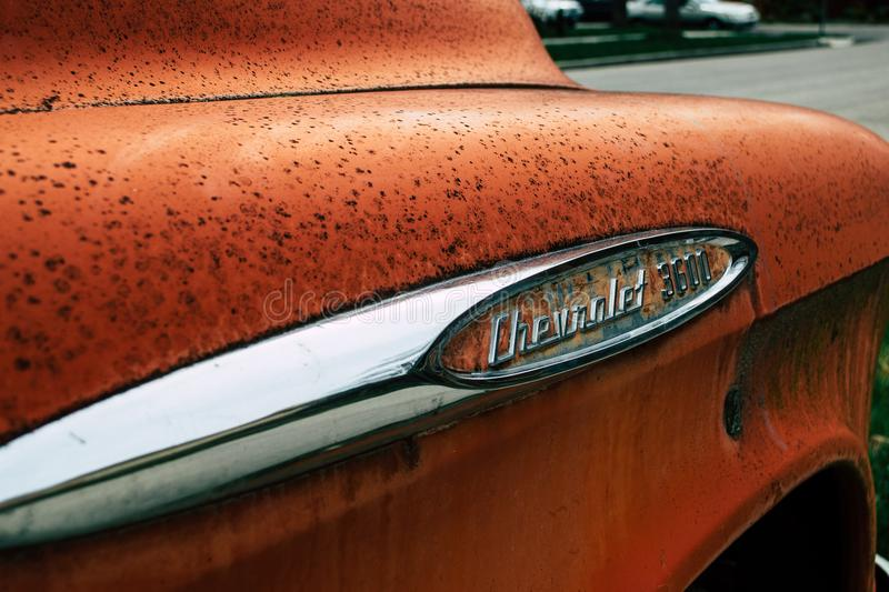 Closeup Photo of Chevrolet 3600 Car royalty free stock images