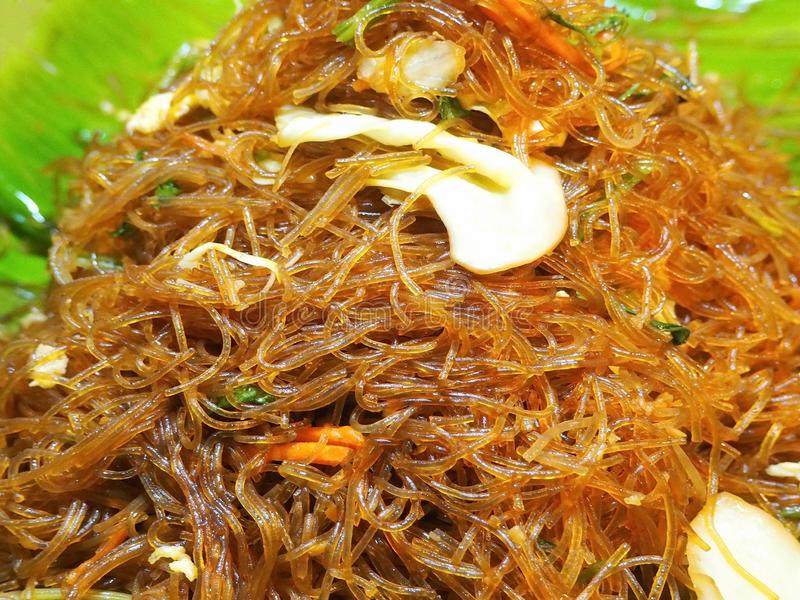 Delicious Fried Glass Noodles with Vegetables royalty free stock images