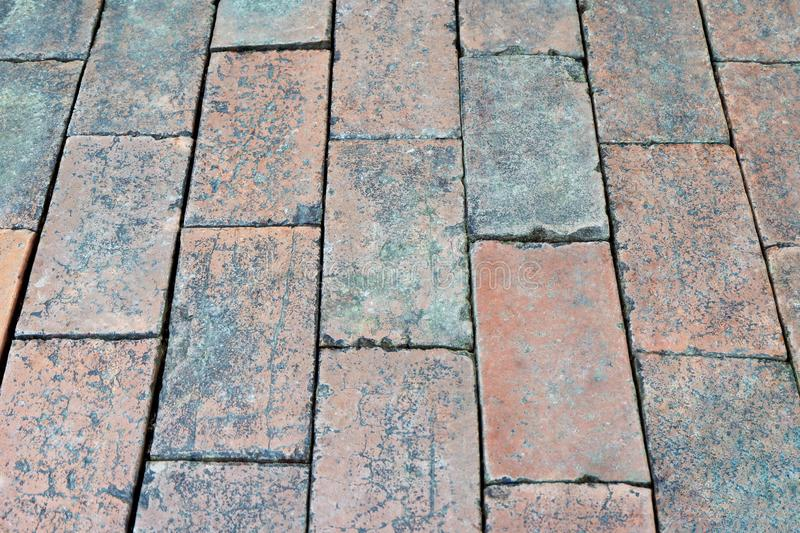 Old Pathway Paved With Brick Stones royalty free stock photography
