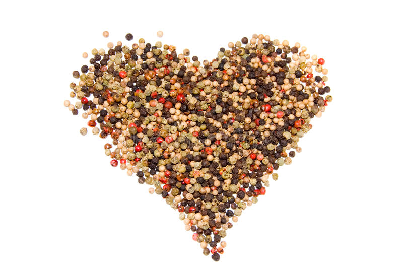 A closeup photo of the pepper heart stock photo
