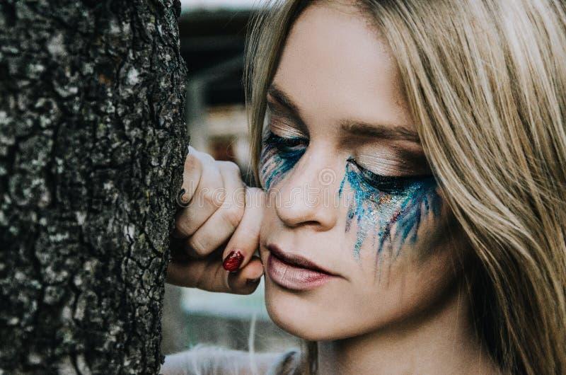 Closeup Photo of Woman Face stock image