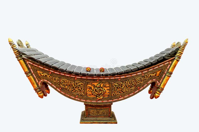 Closeup photo of xylophone, Myanmar traditional musical instrument.  royalty free stock photos