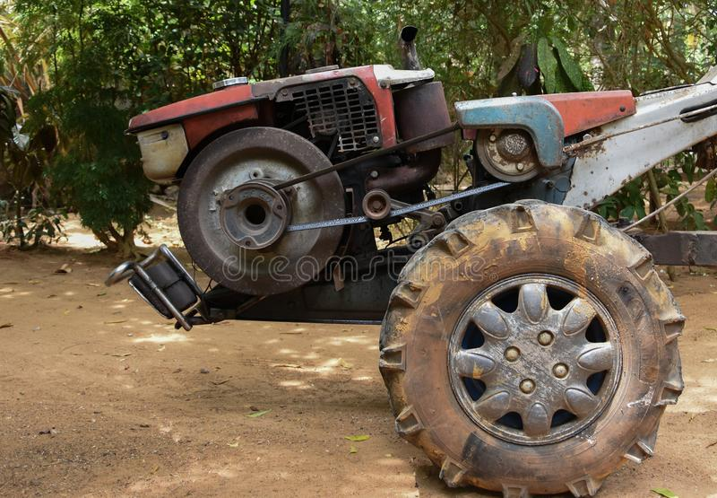 Two-wheel tractor stock photo