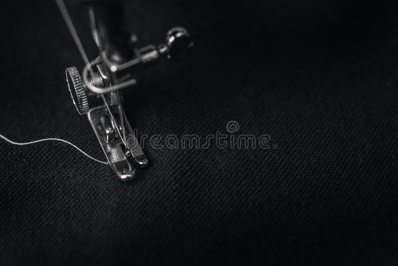 Closeup Photography of Presser Foot of Sewing Machine royalty free stock photos