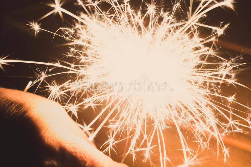 Closeup Photography of Sparkler royalty free stock image