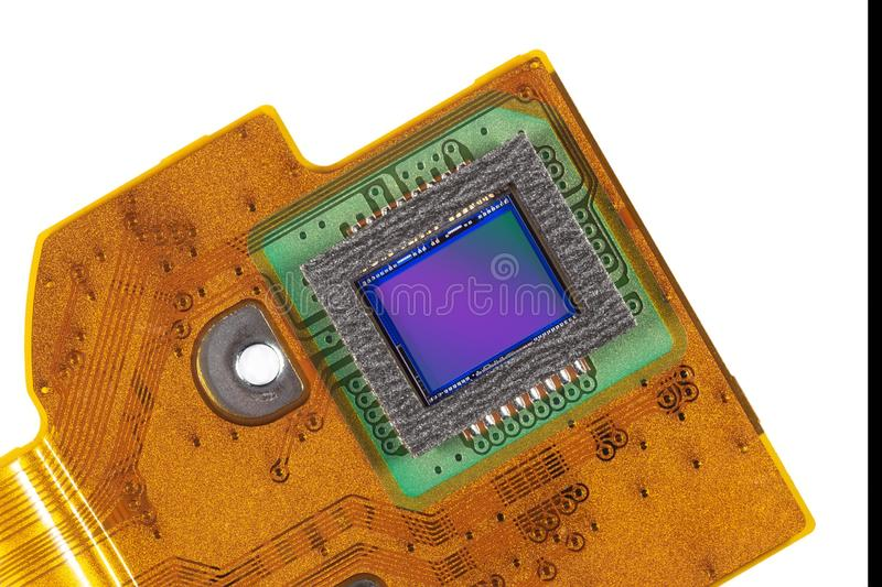 Flexible Printed Electric Circuit Stock Image - Image of