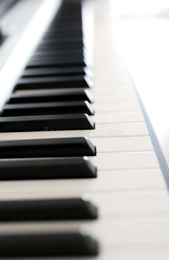 Closeup of piano stock photography