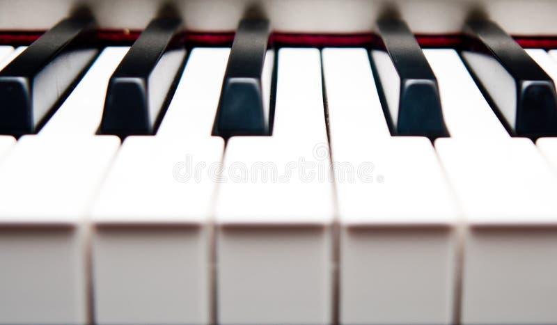 Closeup of piano keys royalty free stock photo