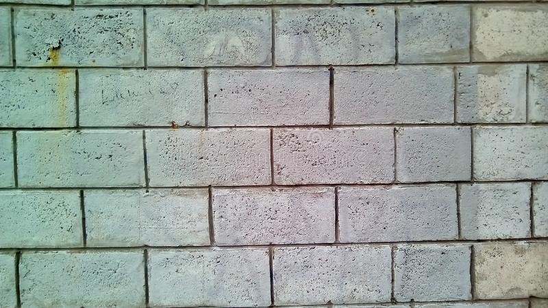 Closeup of a piece of white brick wall. royalty free stock photos