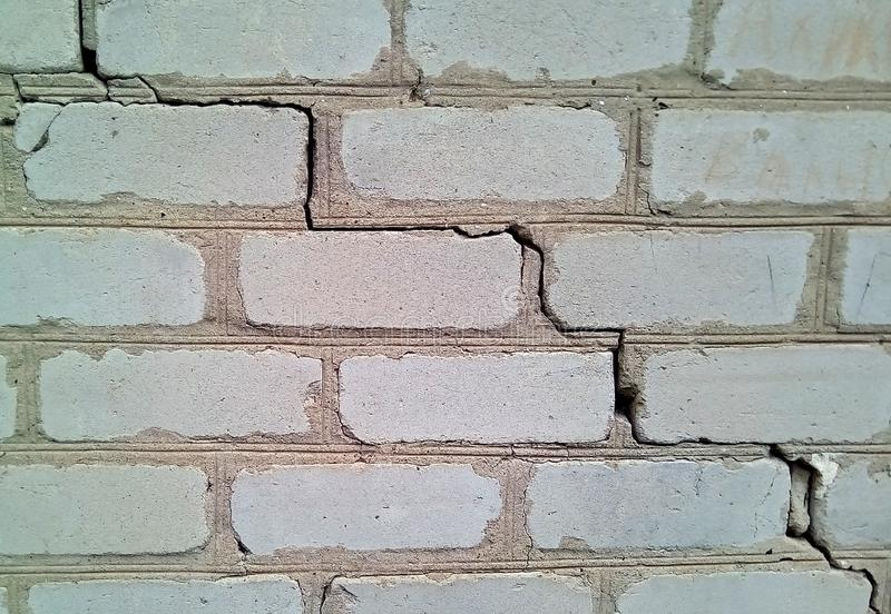 Closeup of a piece of white brick wall. royalty free stock images
