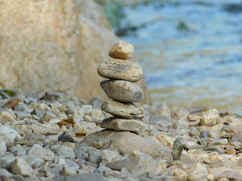 Closeup of pile of stones stock images