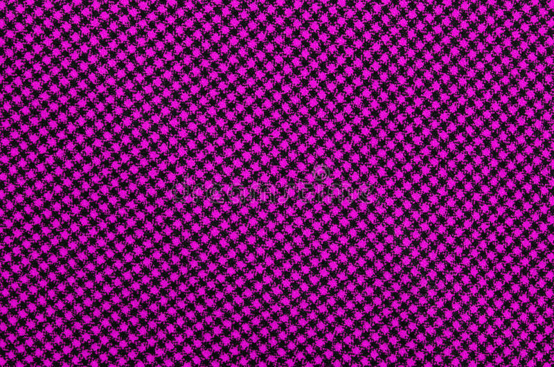 Closeup On Pink Checkered Tablecloth Wool Fabric. Stock Illustration