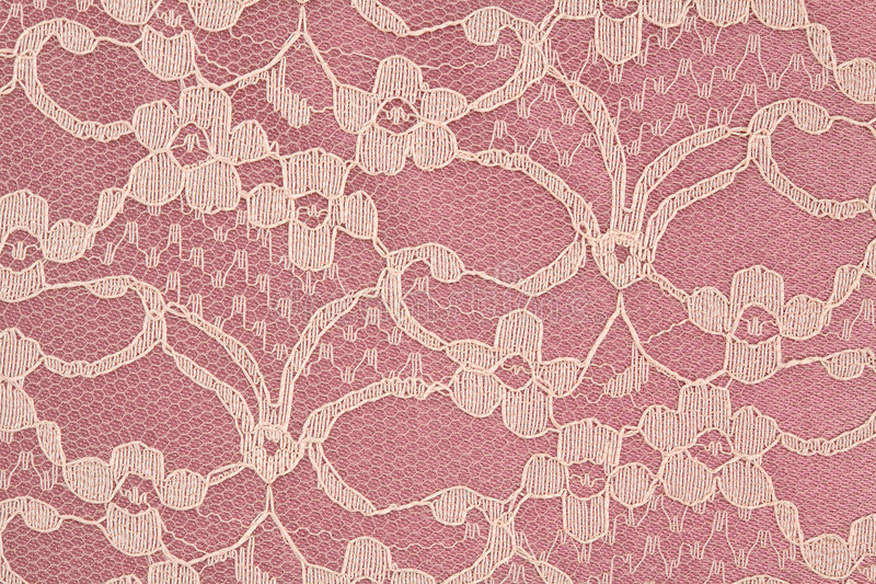 Closeup of Pink and Cream Lace. Closeup of Pink and Cream Colored Lace stock photography