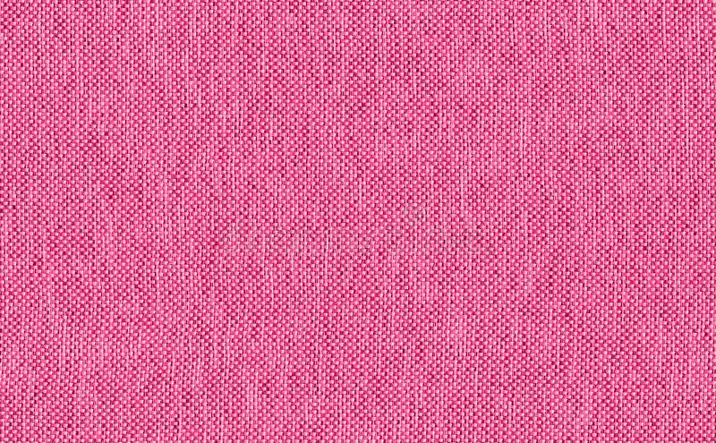 Closeup pink rose color fabric texture. Pink Fabric strip line pattern design or upholstery abstract background stock image