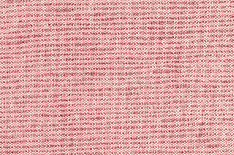 Closeup pink rose color fabric texture. Pink Fabric strip line pattern design or upholstery abstract background stock photo
