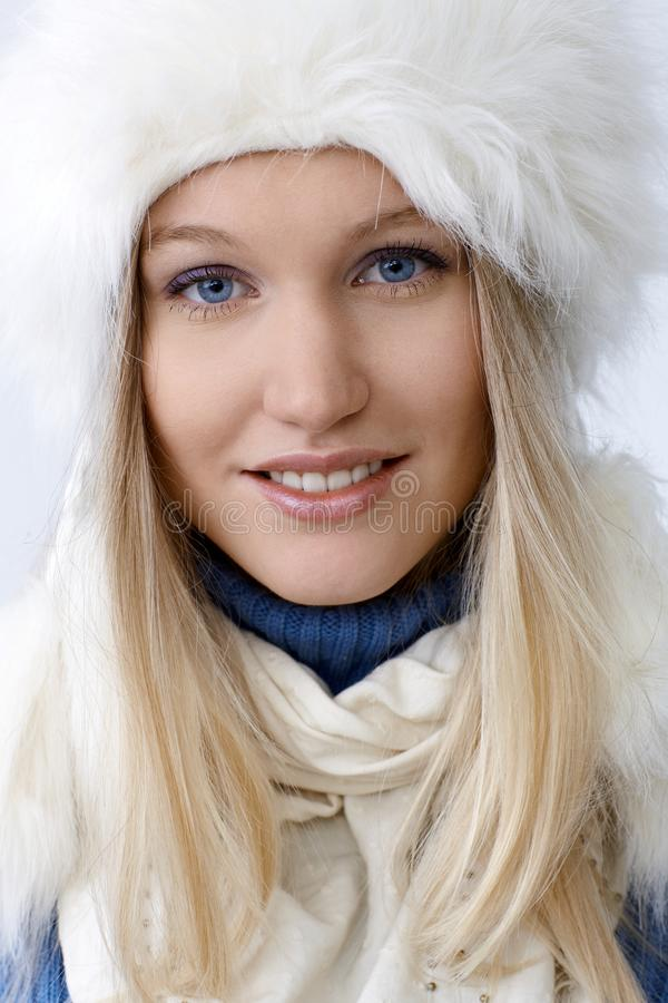 Closeup portrait of attractive nordic woman stock image