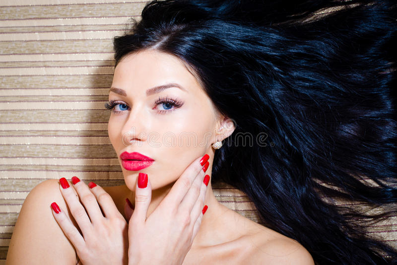 Closeup portrait of attractive girl, stock images