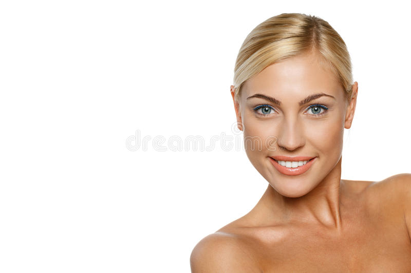 Download Closeup Portrait Of A Beautiful Blond Female Stock Image - Image of healthy, isolated: 28902721