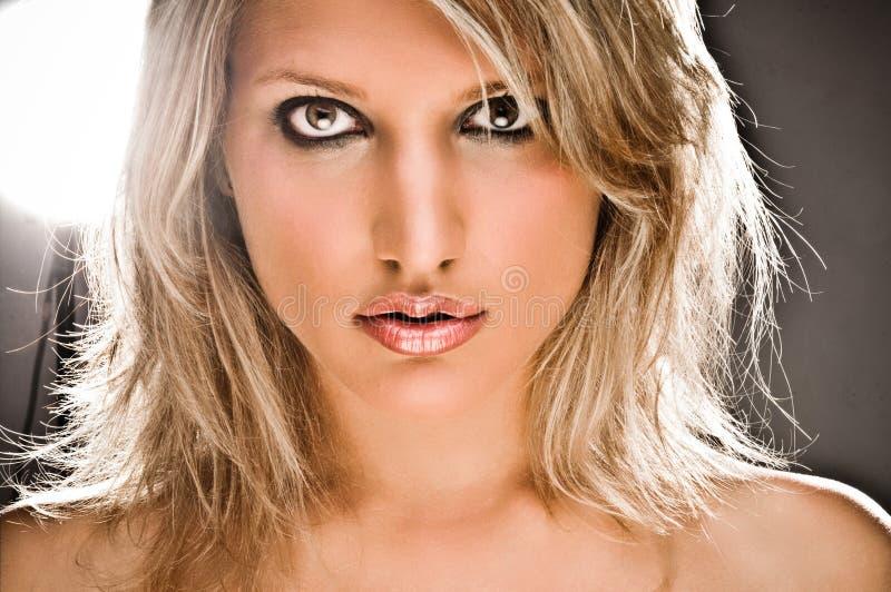 Download Closeup Portrait Of A Beautiful Blond Woman Stock Photo - Image of beautiful, lips: 10245934