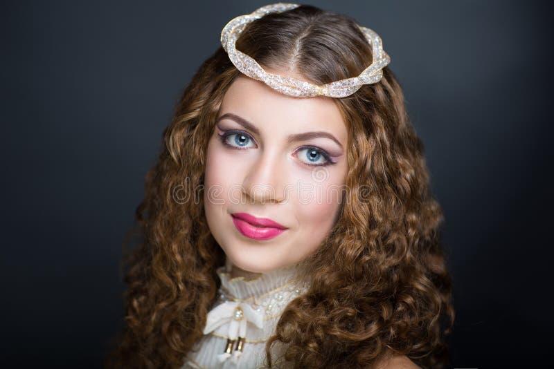 Woman brunette hair royalty free stock image
