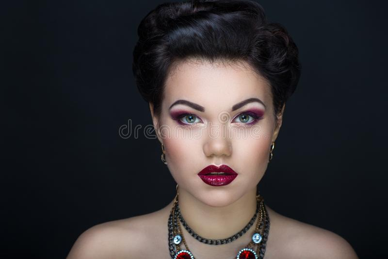 Woman brunette hair stock image
