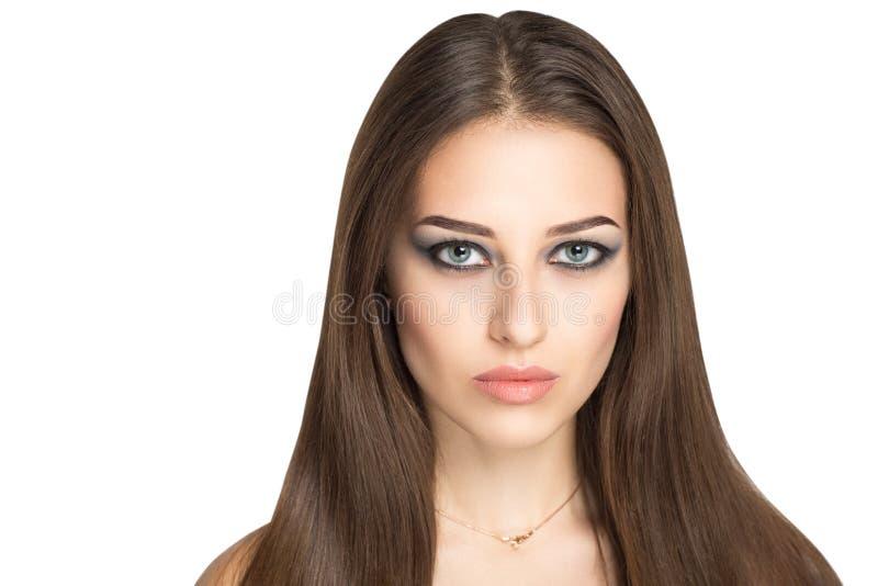 Woman long hair stock photography