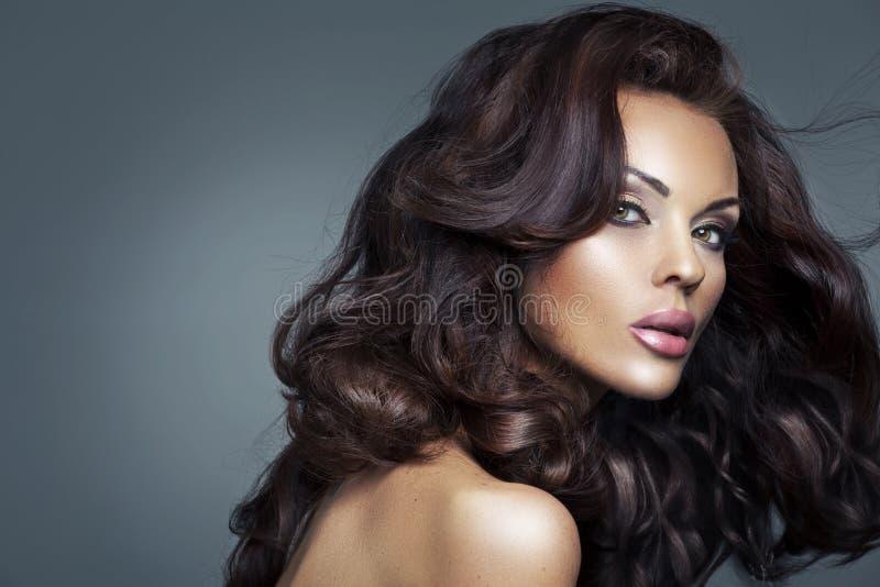 Closeup portrait of a beautiful lady stock image
