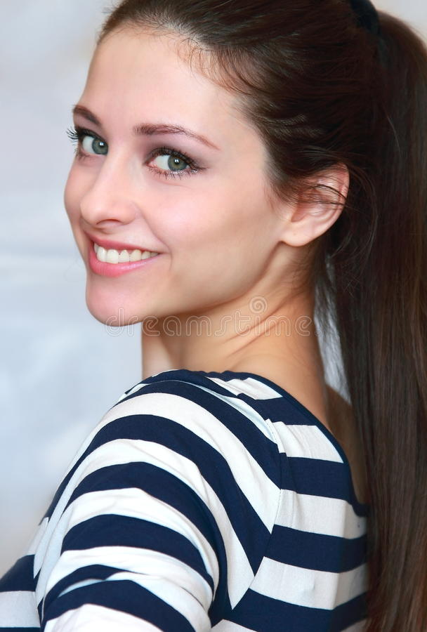 Download Closeup Portrait Of Beautiful Smiling Girl Stock Images - Image: 24059334