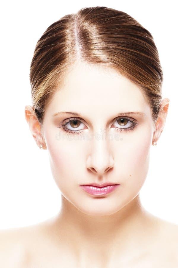 Closeup portrait of a beautiful woman stock photo