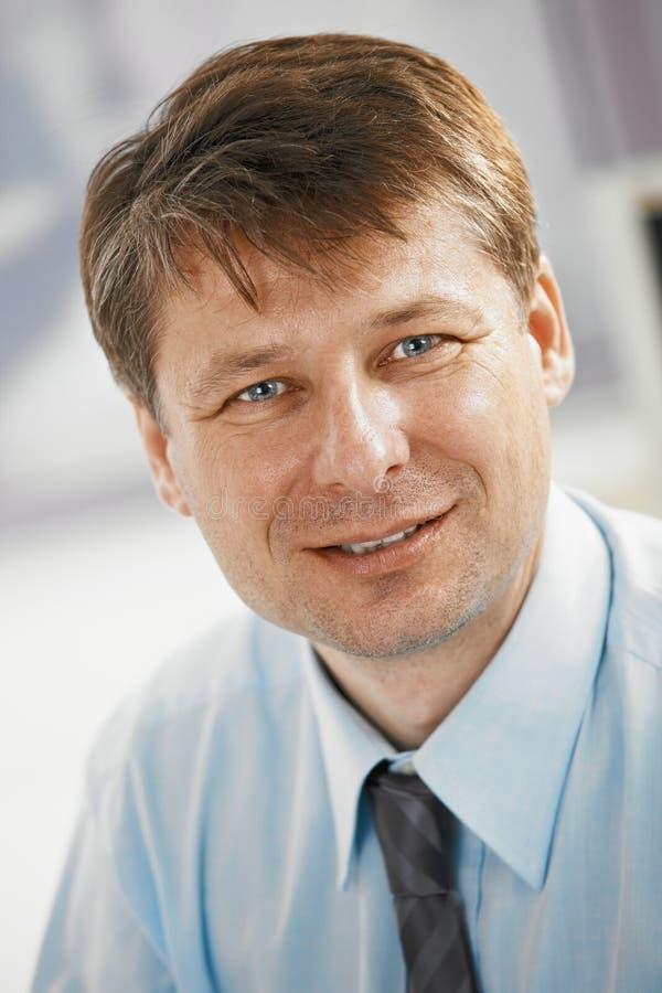 Closeup portrait of businessman stock image