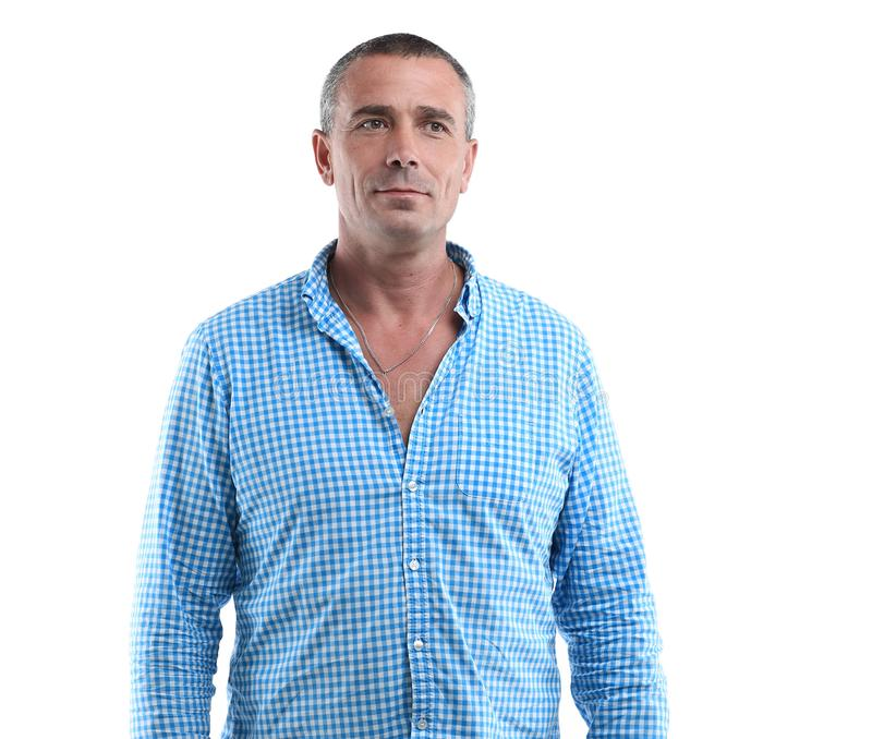 Closeup portrait of a confident male royalty free stock image