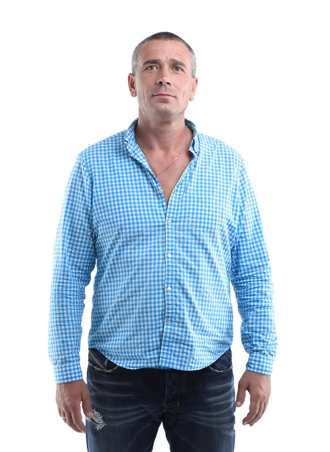 Closeup portrait of a confident male royalty free stock photo