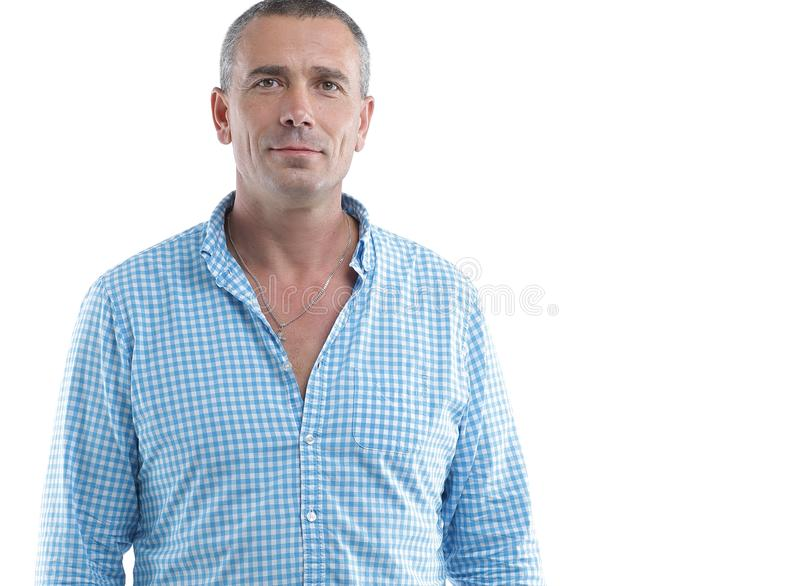 Closeup portrait of a confident male stock photo