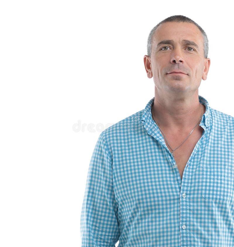 Closeup portrait of a confident male stock photography