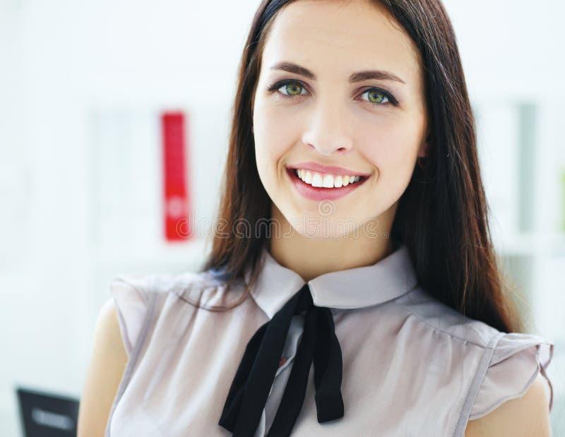 Closeup portrait of a cuccessful Hishpanic, Greek, Latin business woman. stock images