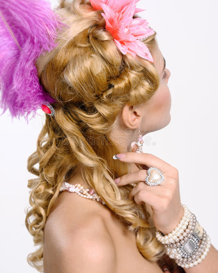 Portrait Of The Elegant Woman Stock Images