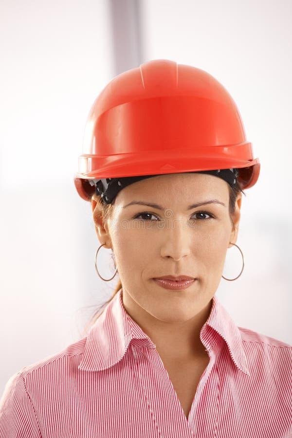 Portrait of female architect stock images