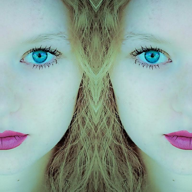 Closeup Portrait Of A Female Teen Girl royalty free stock photo