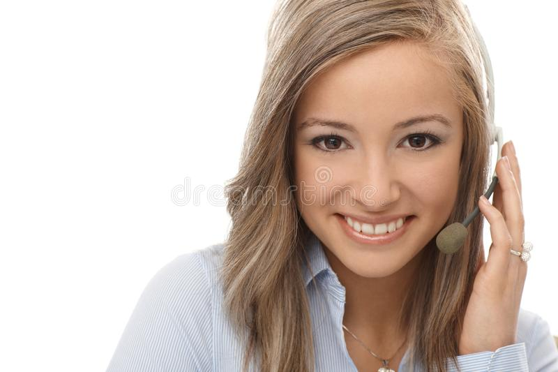 Download Closeup Portrait Of Happy Dispatcher Stock Photo - Image: 25428458