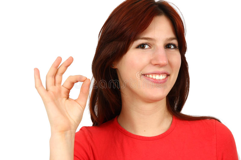 Download Closeup Portrait Of A Happy Young Lady Gesturing Stock Photo - Image: 13422708