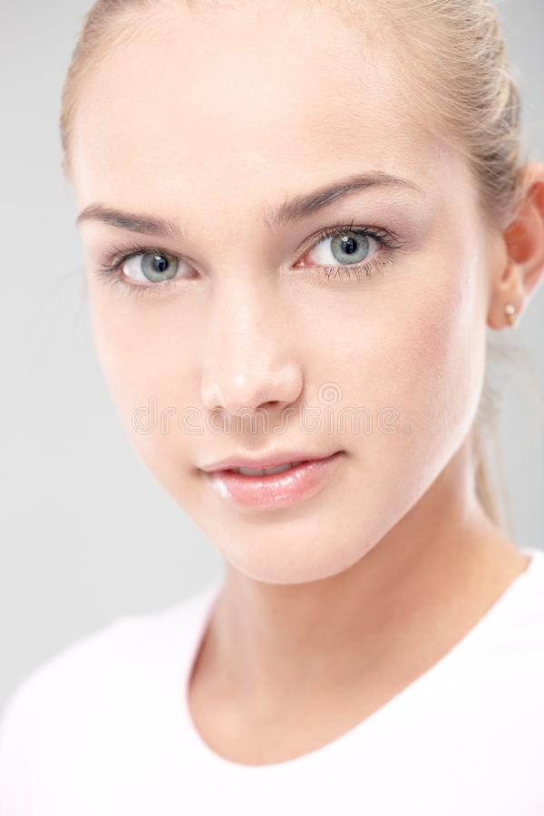 Closeup Portrait Of Natural Beauty Royalty Free Stock Photography