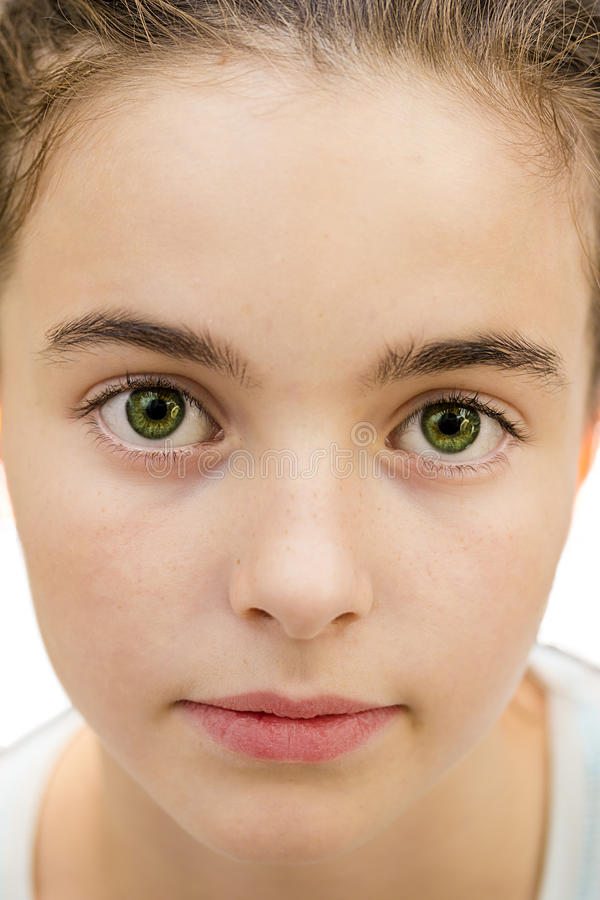 Free Closeup Portrait Of A Beautiful Young Girl, With Big Green Eyes Stock Image - 32770341