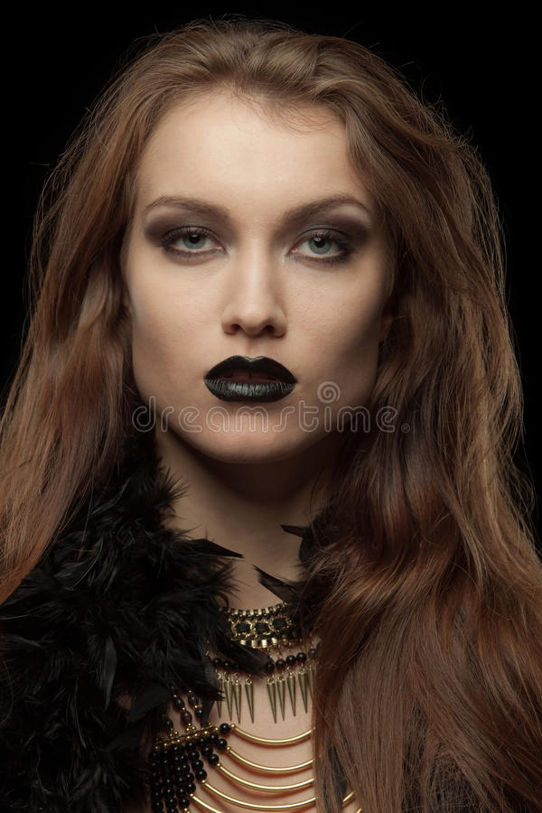 Free Closeup Portrait Of A Gothic Femme Fatale With Stock Images - 46091044