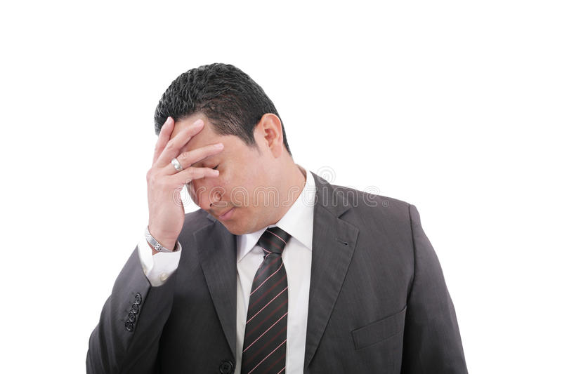 Download Pensive Worried Businessman Royalty Free Stock Images - Image: 30022379
