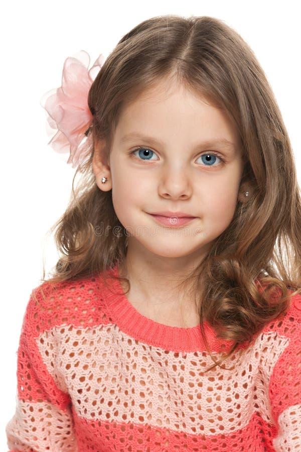 closeup portrait of a pretty little girl stock image. Black Bedroom Furniture Sets. Home Design Ideas