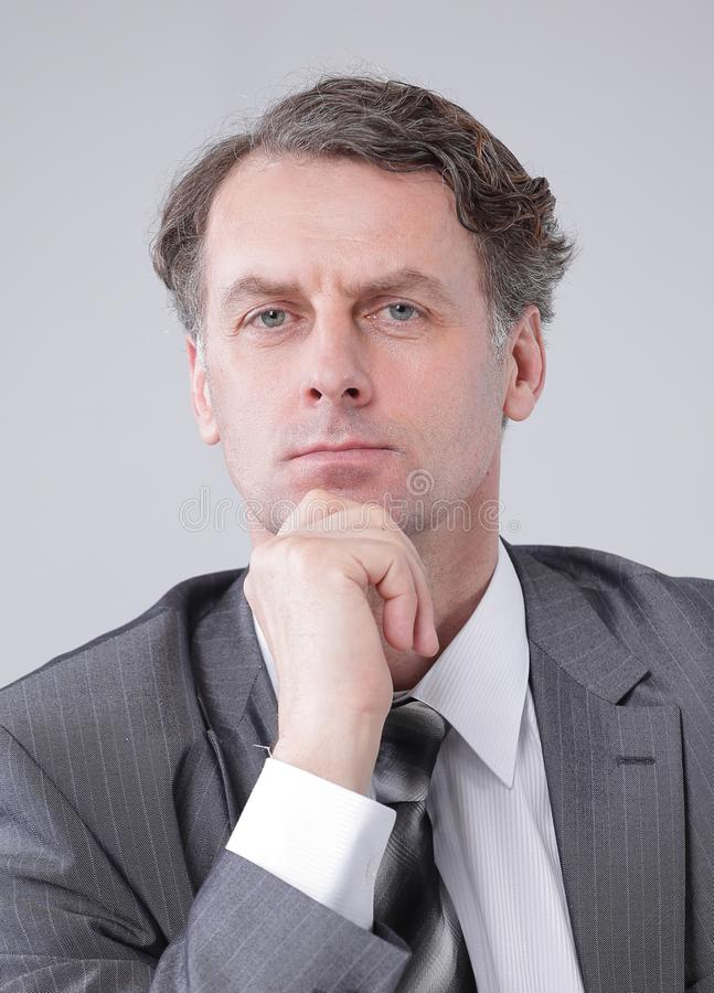 Closeup portrait of a serious businessman. royalty free stock image